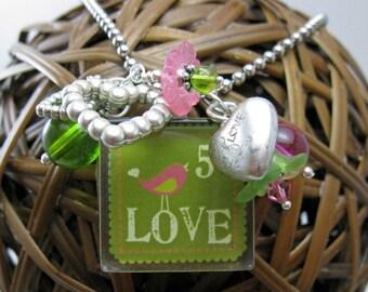 Teenage Girl Gifts Sister In Law Gift Teen Best Friend Birthday For Girlfriend LoveBirds Love Stamp Green