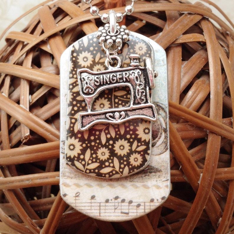 Donut Sweet Glaze Jewelry Military Pendant Brand Necklace Metal Dog Tag