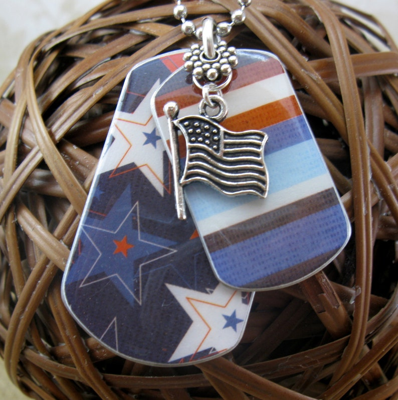 Dog Tag Necklace Kids Jewelry Little Girl Gift For