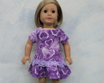 Lavender Flower Studded Leggings 18 in Doll Clothes Fits American Girl