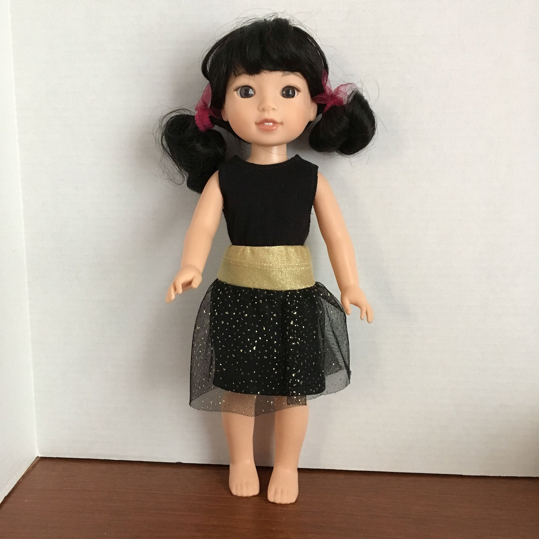 "Fuchsia Top /& Tutu Skirt fits 14.5/"" American Girl Wellie Wishers Doll Clothes"