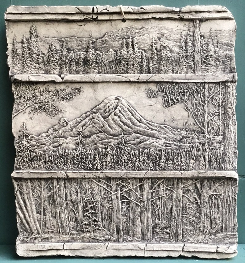 Mountain Ceramic Pottery Ceramic Relief Porcelain Tile Etsy