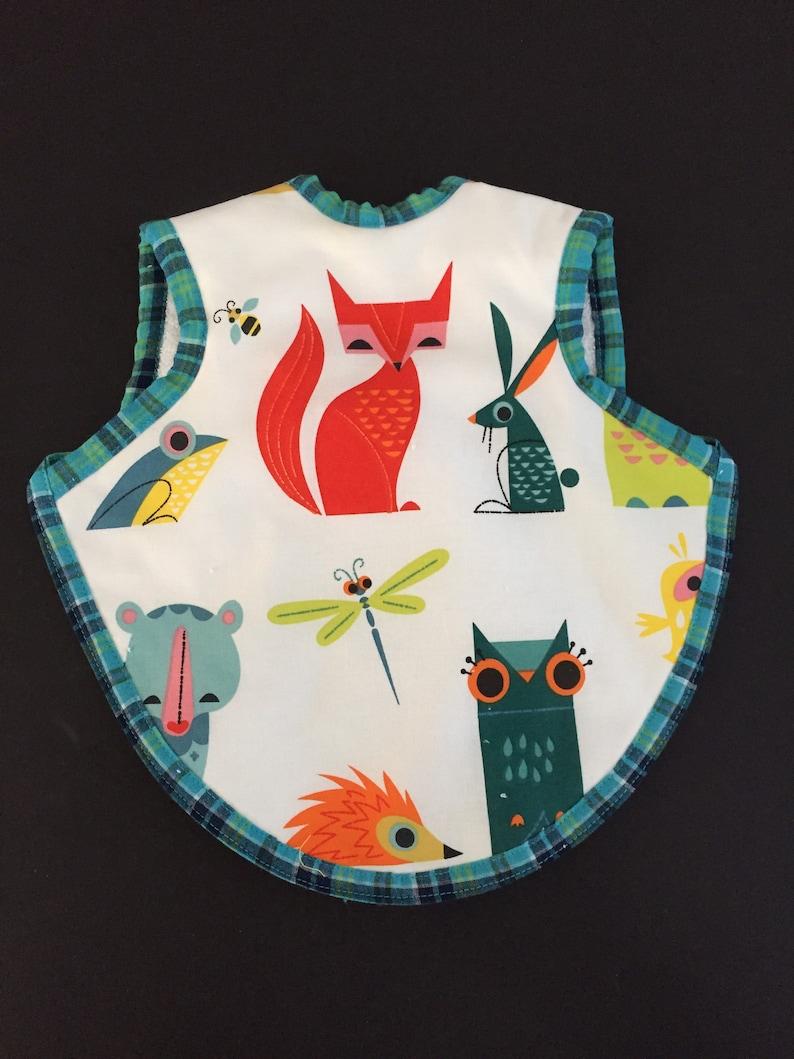 Handmade animal baby bib  toddler bibs  baby shower gift  image 0