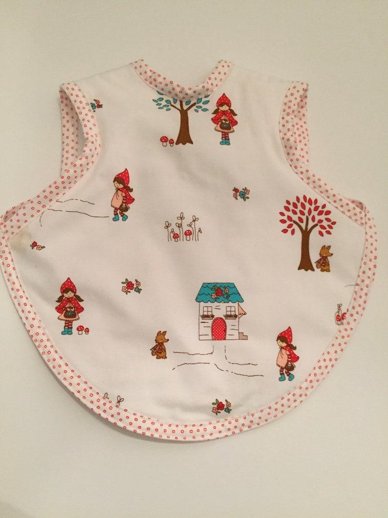 Bib/bapron for baby/toddler girl using little red riding hood image 0