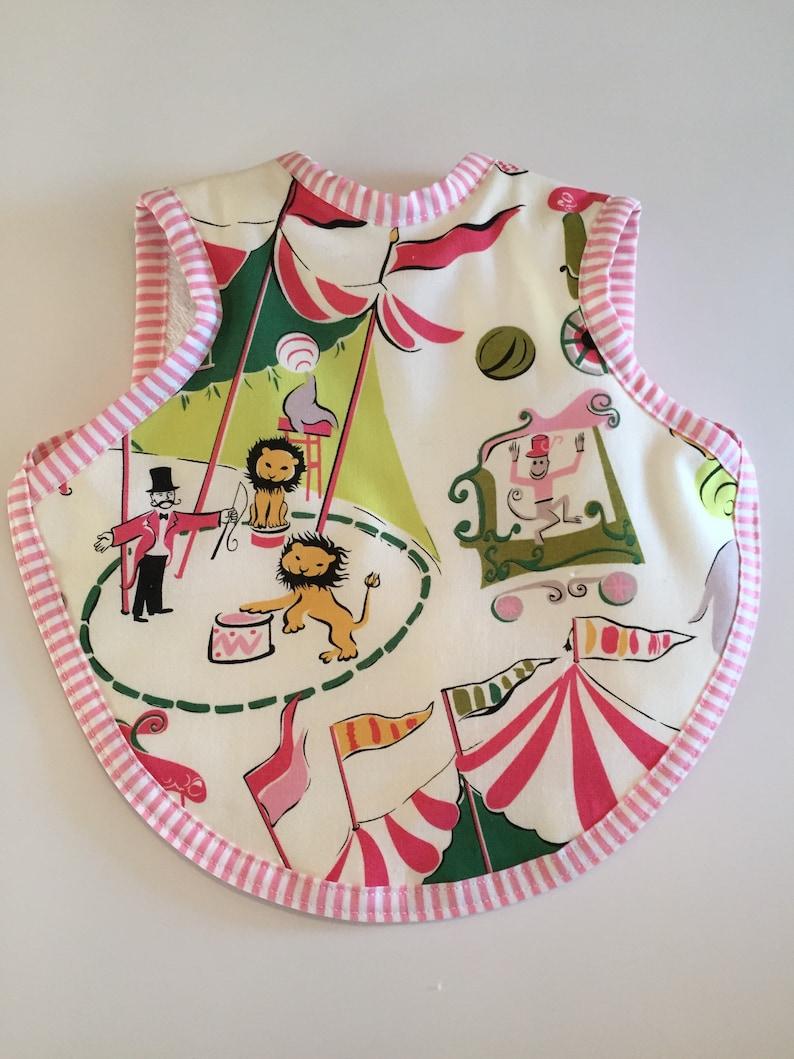 Bibs baby first birthday circus  circus fabric  toddler image 0