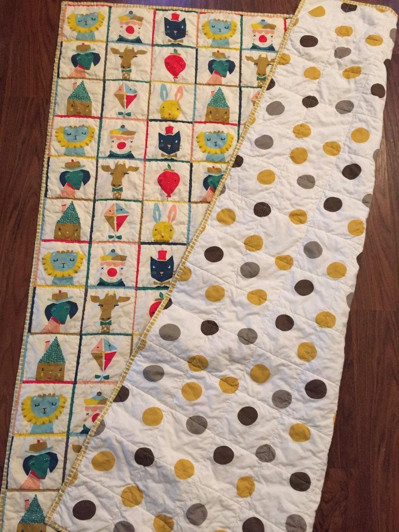Handmade organic baby quilt  modern organic quilts   baby image 0