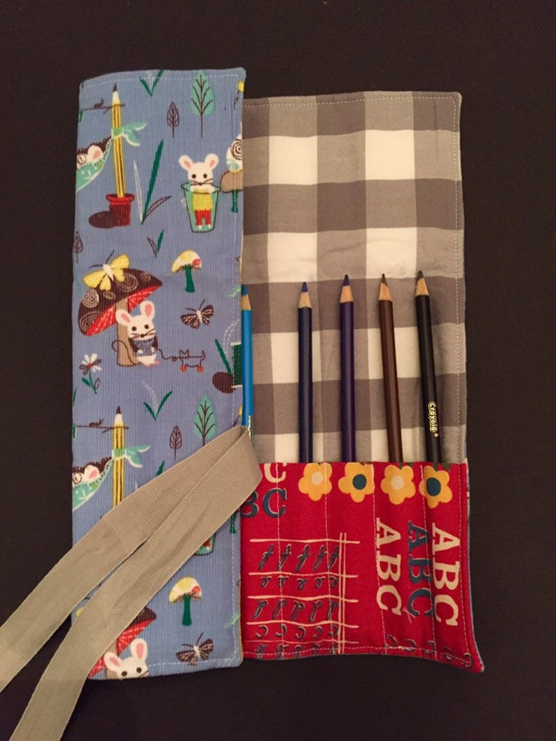 colored pencil carrier coloring activity Colored pencil holder birthday gift colored pencil roll artist stocking stuffer  