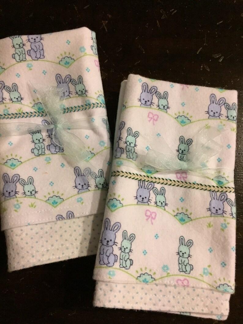Burp cloth double flannel handmade