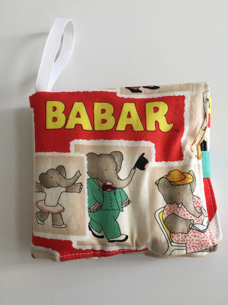 Crayon caddy crayon keeper Babar fabric toddler activity image 0