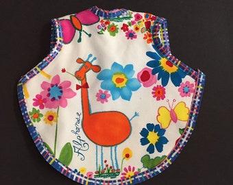 Gender neutral bib  giraffe baby bib   animal toddler bib   girl bapron   boy bibs   baby shower gift