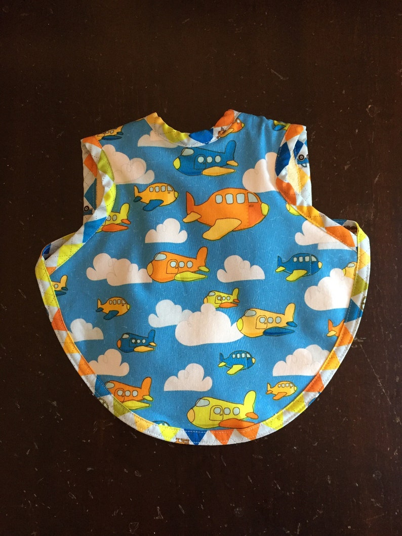 Airplane baby bib  toddler airplane bapron  airplane baby image 0