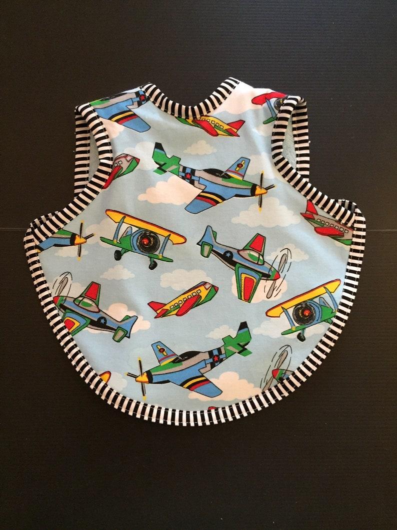 Toddler boy bibs  airplane bibs  handmade boy bibs  image 0