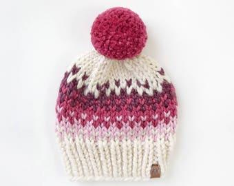 Fair Isle Pom Pom Hat