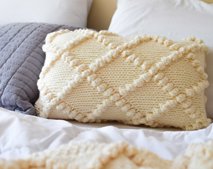 Featured listing image: Bobble Knit Throw Pillow