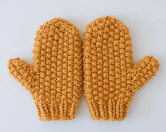 Seed Stitch Mittens