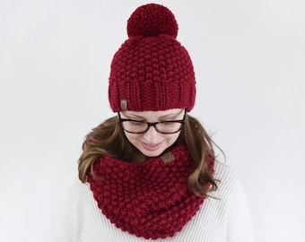 Chunky Seed Hat & Cowl Pattern