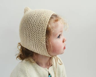 Bonnet Knitting Pattern // Bonnet Pattern // Knitting Patterns for Kids // Pixie Bonnet Pattern // Garter Bonnet