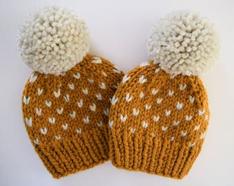 Fair Isle Mommy and Me Hats