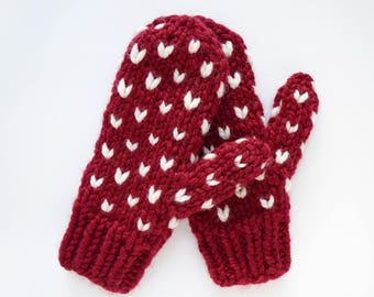 Little Hearts Mittens Pattern