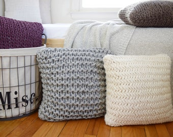 Chunky Throw Pillow Set