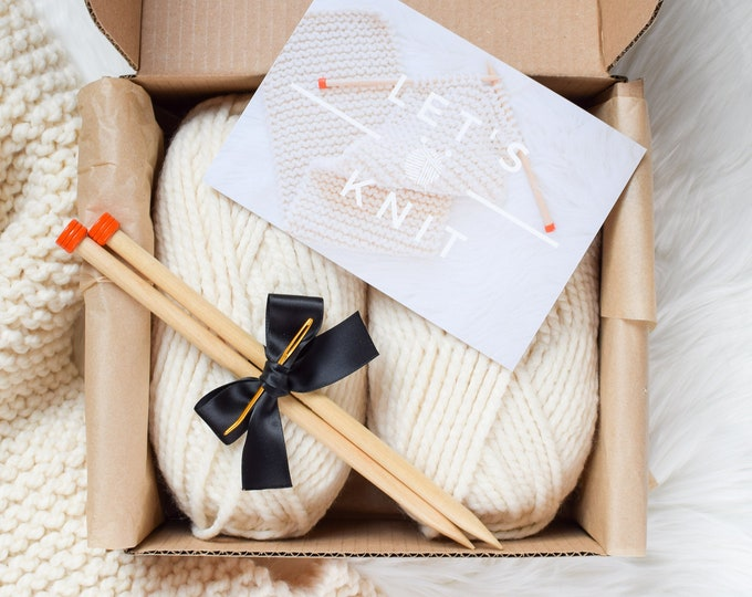 Featured listing image: Beginner Knitting Kit