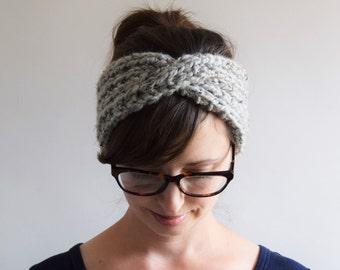 Chunky Knit Headband // Turban Headband // Knit Headband // Chunky Knits // Knit Turban Headband