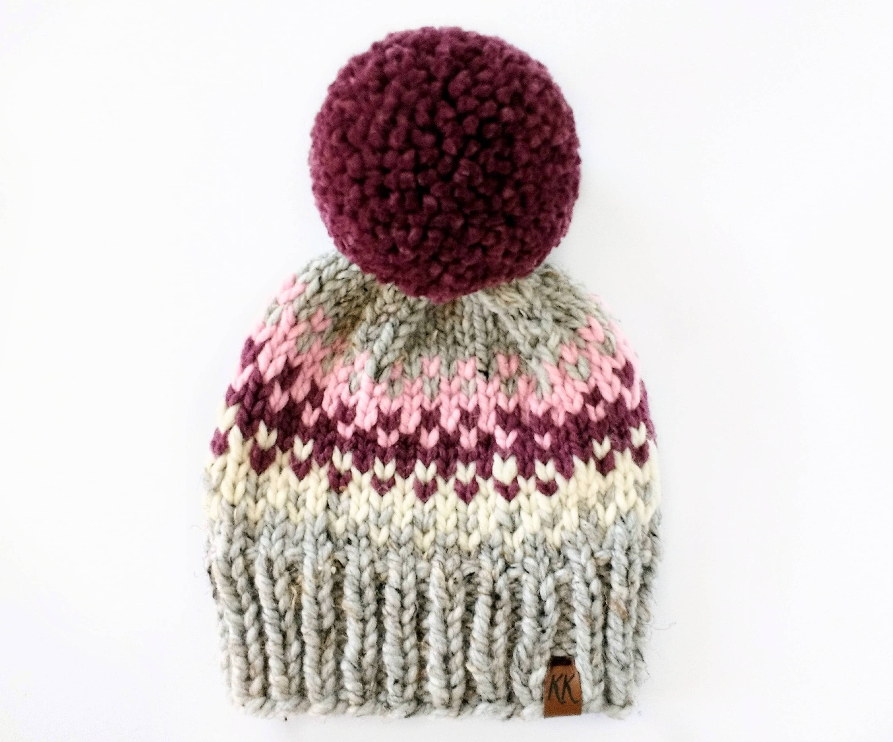 Fair Isle Hat Pattern    Pom Pom Hat Knitting Pattern    Hat  3b31165a0c5