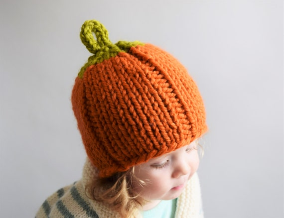 Pumpkin Hat Knitting Pattern    Pumpkin Hat Pattern    Knitting Patterns  for Kids    Fall    Halloween    Thanksgiving 889398b8452
