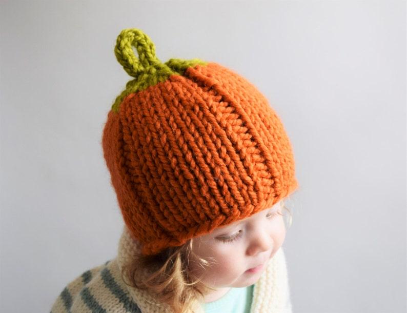 f4c79a598d70 Pumpkin Hat Knitting Pattern    Pumpkin Hat Pattern