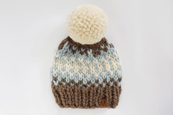 Hat Knitting Pattern Knit Child Pattern Fair Isle Hat Etsy