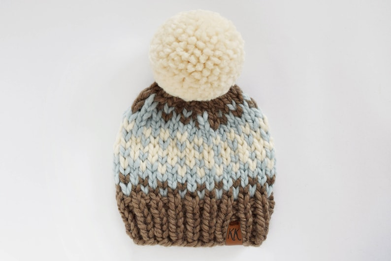 5ae17646816 Hat Knitting Pattern    Knit Child Pattern    Fair Isle Hat