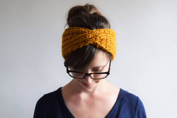 Knit Headband Pattern    Headband Knitting Pattern    Chunky Headband  Pattern    Turban Headband Pattern f5f1e7a73e0