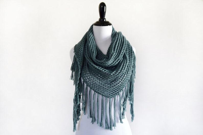 Triangle Scarf Knitting Pattern Lace Triangle Shawl Pattern Etsy