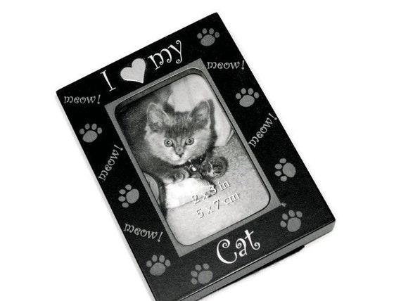 Mini Black Cat Heart Frame I Heart Mini Black Frame I Heart My Etsy