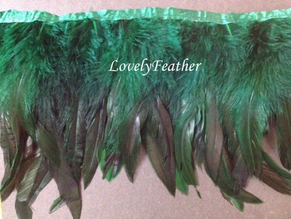 Coque feather fringe dark purple irridescent colour 10 yards trim