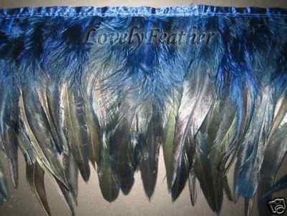 Coque de plumas Flecos Negro irridescent Color 10 yardas Trim