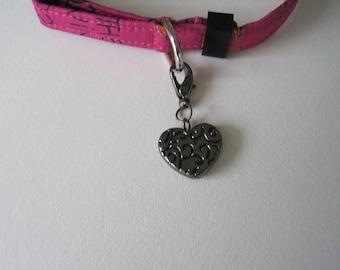 Cat Collar Charm - Heart