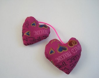 Double Heart Cat Toy filled with Organic Catnip