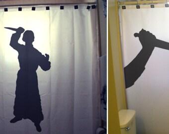 Psycho Killer Shower Curtain, Funny Bathroom Decor