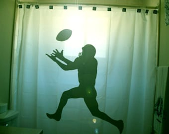 Football Shower Curtain Kids Sports Bathroom Decor Extra Long Fabric Curtains 84 90 96 Inch Custom Stall Size 36 54 78