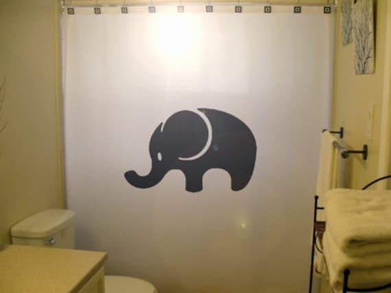 Baby Elephant Shower Curtain Cute Kids Bathroom Decor Extra
