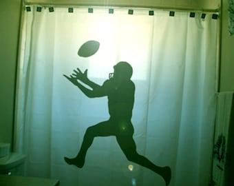 American Football Shower Curtain, Kids Sports Bathroom Decor, extra long custom fabric colors