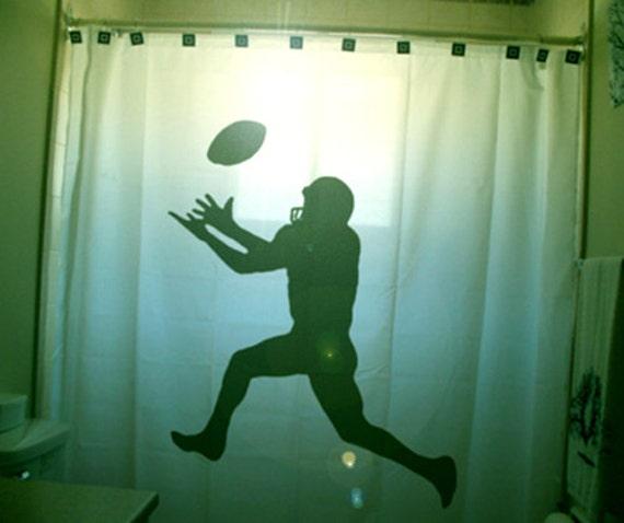 Football SHOWER CURTAIN Kids Sports Bathroom Decor Extra