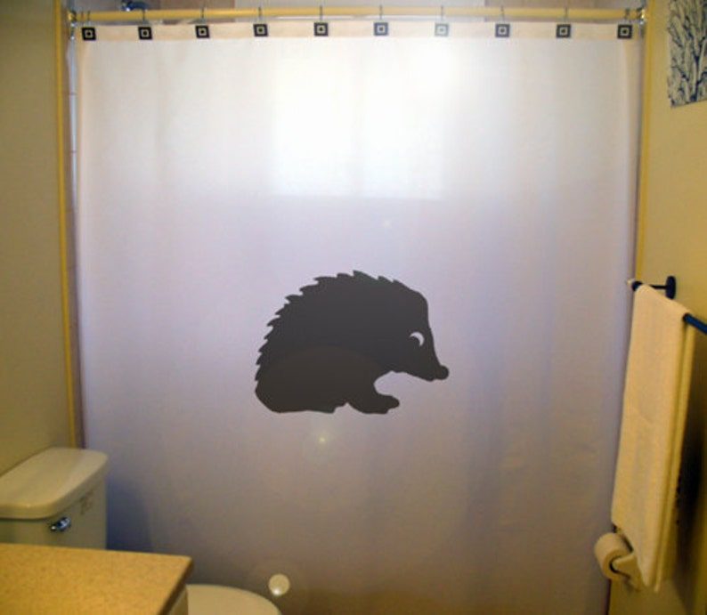 Hedgehog Shower Curtain Extra Long Fabric Curtains 84