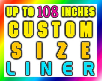 Custom Size Extra Long Shower Curtain Liner Wide waterproof 84 96 100 108 inch stall clawfoot polyester plastic bathroom tall length height