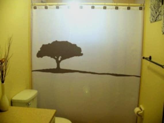 Acacia Tree Shower Curtain Landscape Bathroom Decor