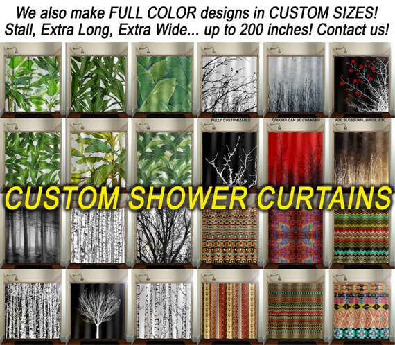 Custom Size Extra Long SHOWER CURTAIN Liner Wide Waterproof