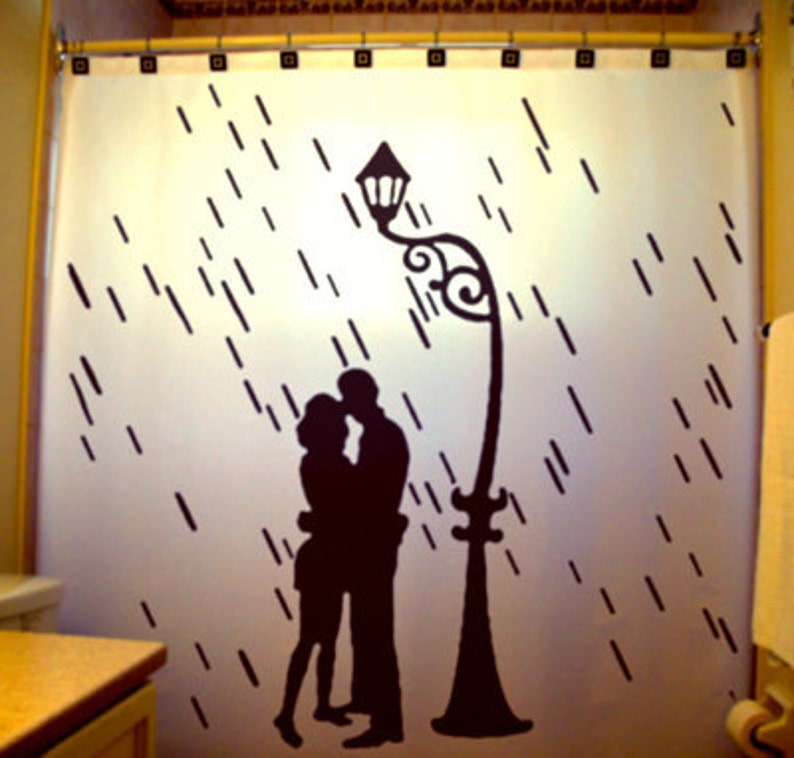Rain Lovers Romantic Shower Curtain Love Romance Couples