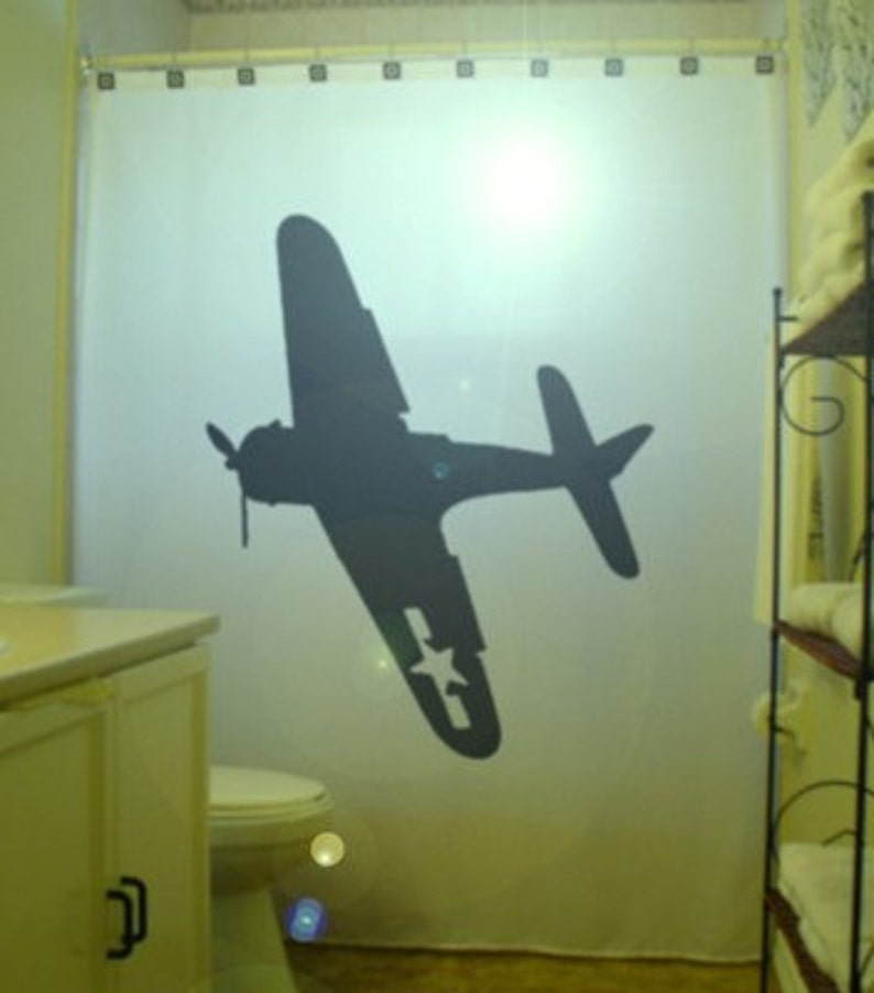 B 52 Bomber Shower Curtain Military Aircraft Bathroom Decor Extra Long Fabric Curtains 84 90 96 Inch Custom Stall Size 36 54 78