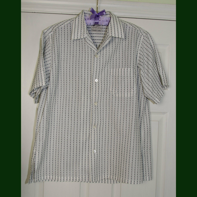 1950s Men's Ties, Bow Ties – Vintage, Skinny, Knit Vintage Mens Summer Rockabilly Short Sleeved 1950s Shirt $35.00 AT vintagedancer.com